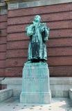 Standbeeld van Martin Luther hamburg Stock Foto's