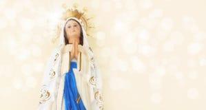 Standbeeld van Mary van de godsdienst het heilige stock foto's