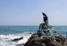 Standbeeld van meermin in Dongbaek-park Royalty-vrije Stock Fotografie