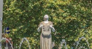 Standbeeld van Melpomene in Griekse mythologie de muse van het zingen stock foto's