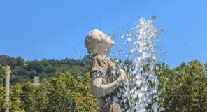 Standbeeld van Melpomene in Griekse mythologie de muse van het zingen royalty-vrije stock afbeelding