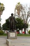 Standbeeld van Miguel Hidalgo bij Hidalgo-park, Leon, Guanajuato royalty-vrije stock foto's
