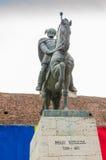 Standbeeld van Mihai Viteazul in Alba Iulia Royalty-vrije Stock Afbeelding