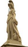 Standbeeld van Minerva op de Oude Brug van Heidelberg Stock Foto