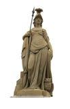 Standbeeld van Minerva op de Oude Brug van Heidelberg Royalty-vrije Stock Afbeelding