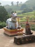 Standbeeld van Nandi de stier Stock Afbeelding