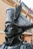 Standbeeld van Nelson in Londen op 30 Juli, 2017 Stock Afbeelding
