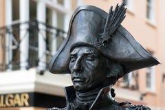 Standbeeld van Nelson in Londen op 30 Juli, 2017 Stock Foto's