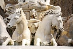 Standbeeld van Neptunus, detail, Florence, Italië royalty-vrije stock foto