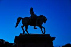 Standbeeld van Noorse Koning Carl Johan XIV in Oslo, Noorwegen royalty-vrije stock afbeeldingen