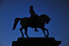 Standbeeld van Noorse Koning Carl Johan XIV in Oslo, Noorwegen royalty-vrije stock foto