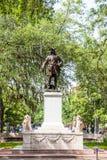 Standbeeld van Oglethorpe in Savanne Stock Afbeeldingen