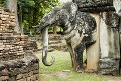 Standbeeld van olifant in de geschiedenis van Thailand royalty-vrije stock afbeeldingen