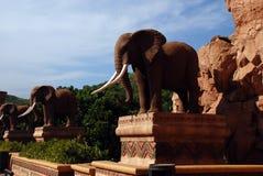 Standbeeld van olifanten Stock Afbeelding