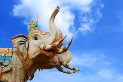 Standbeeld van olifanten Stock Foto's