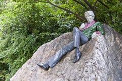 Standbeeld van Oscar Wilde Stock Foto