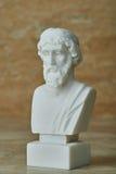 Standbeeld van oude Griekse filosoof Plato stock afbeelding