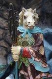 Standbeeld van paard-gezicht bij de Villa van het Hagedoornpari in Singapore Royalty-vrije Stock Foto