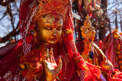 Standbeeld van Pathibhara Devi Stock Afbeeldingen