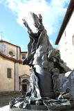 Standbeeld van Paus Paulus VI in Varese, Italië Royalty-vrije Stock Fotografie