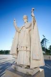 Standbeeld van Paus Pius XII in Fatima, Portugal Royalty-vrije Stock Fotografie