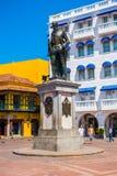 Standbeeld van Pedro de Heredia in mooi Stock Afbeeldingen