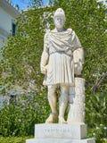 Standbeeld van Pericles bij de Athinas-straat van Athene Attica, Griekenland stock afbeelding