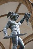 Standbeeld van Perseus Stock Foto's