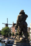 Standbeeld van Piet Heyn in Delfshaven, Nederland Stock Fotografie