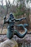 Standbeeld van Poseidon in Jurmala stock afbeelding