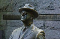 Standbeeld van President Roosevelt - F D r herdenkings Royalty-vrije Stock Foto's