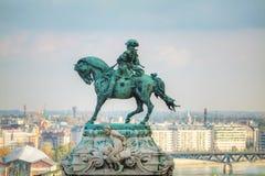 Standbeeld van Prins Eugene van Savooiekool bij het Koninklijke Kasteel royalty-vrije stock afbeelding