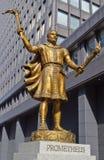 Standbeeld van Prometheus in Tokyo Stock Afbeelding