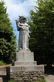 Standbeeld van & x22; Radegast& x22; & x28; god van Slavische mythology& x29; op een Moravian-berg RadhoÅ ¡ Å¥ royalty-vrije stock foto's