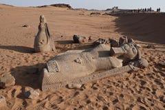 Standbeeld van Ramses II stock foto