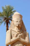 Standbeeld van Ramses II bij de Tempel Karnak. Royalty-vrije Stock Afbeelding