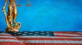 Standbeeld van rechtvaardigheid stock illustratie