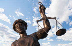 Standbeeld van Rechtvaardigheid Stock Afbeeldingen