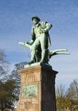 Standbeeld van Robert Burns Royalty-vrije Stock Foto