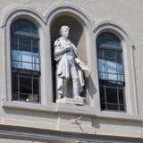 Standbeeld van Robert Fulton in Fulton Theatre, dat in Lancaster van de binnenstad wordt gevestigd PA royalty-vrije stock foto's