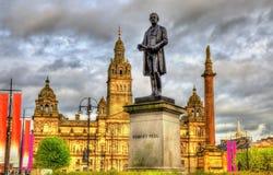 Standbeeld van Robert Peel in Glasgow stock foto's