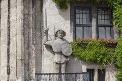 Standbeeld van Roland in Quedlinburg, Duitsland Stock Foto's