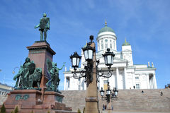 Standbeeld van Russische tsaar Alexander II, Helsinki stock afbeeldingen