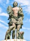 Standbeeld van San Vito Martire, de bescherming van de vissers Stock Foto's