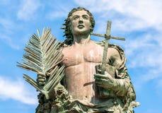 Standbeeld van San Vito Martire, de bescherming van de vissers Stock Fotografie