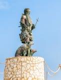Standbeeld van San Vito Martire, de bescherming van de vissers Royalty-vrije Stock Foto
