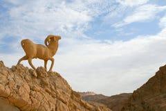 Standbeeld van schapen royalty-vrije stock afbeelding