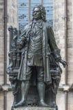 Standbeeld van Sebastian Bach in Leipzig, Duitsland Stock Afbeeldingen
