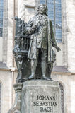 Standbeeld van Sebastian Bach in Leipzig, Duitsland Royalty-vrije Stock Afbeelding