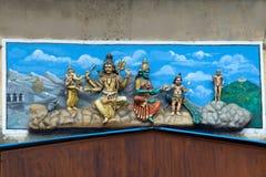 Standbeeld van Shiva en Familie, Madurai Stock Foto